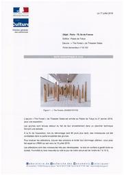 "PARIS 16e (Paris, 75). Palais de Tokyo. Oeuvre ""the Forest"" de Theaster Gates | MAURIN, (E.)"